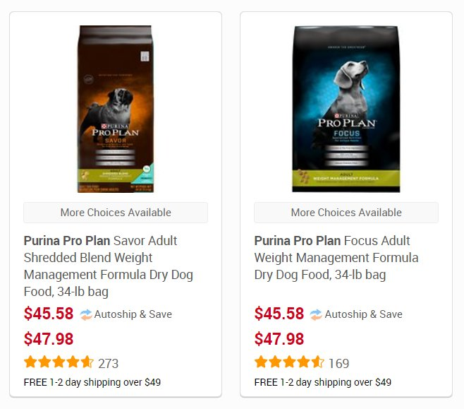 Common Grocery Store Dog Food for Weight Loss